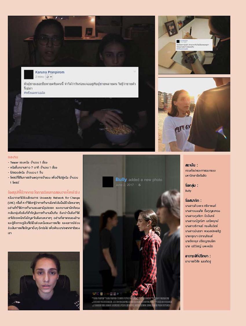 Cyberbullying  คณะศิลปะและการออกแบบ มหาวิทยาลัยรังสิต